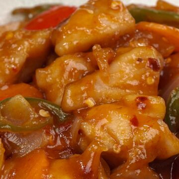A close up view of hot and spicy chicken.