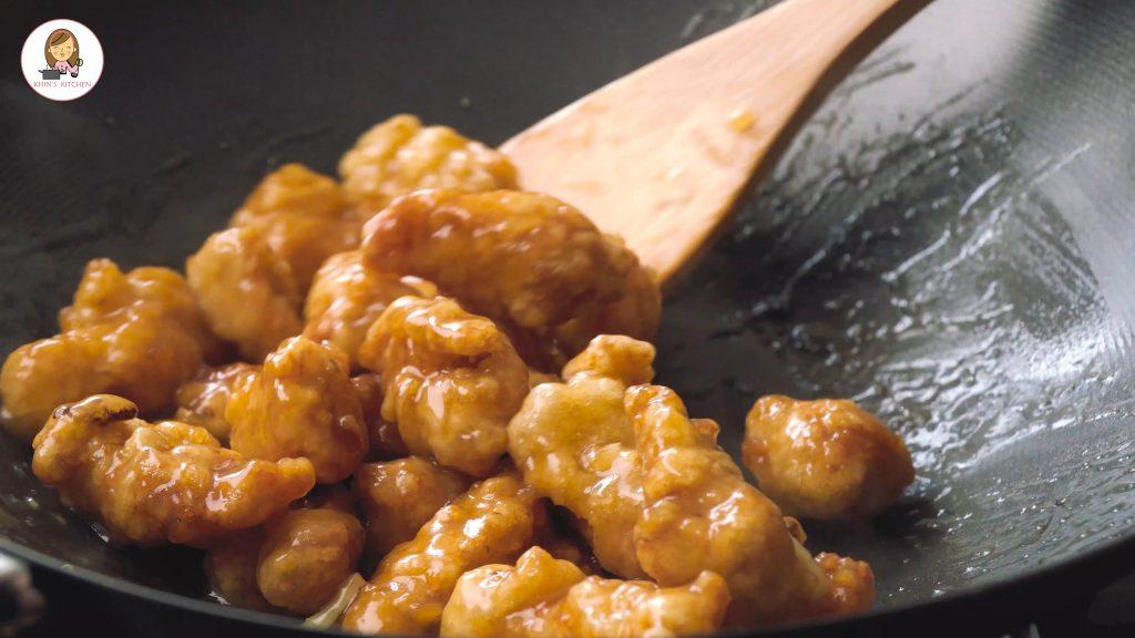 Crispy honey lemon chicken