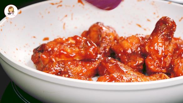 Spicy Korean Fried Chicken Wings