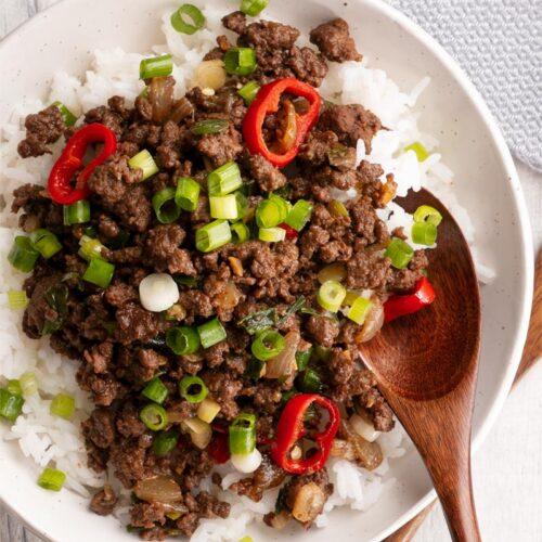 mongolian ground beef