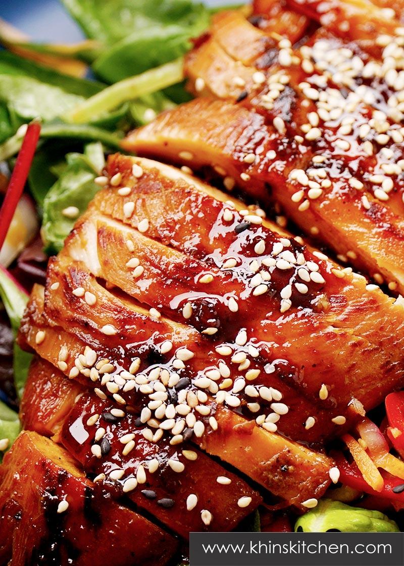 Asian Sticky Chicken Salad