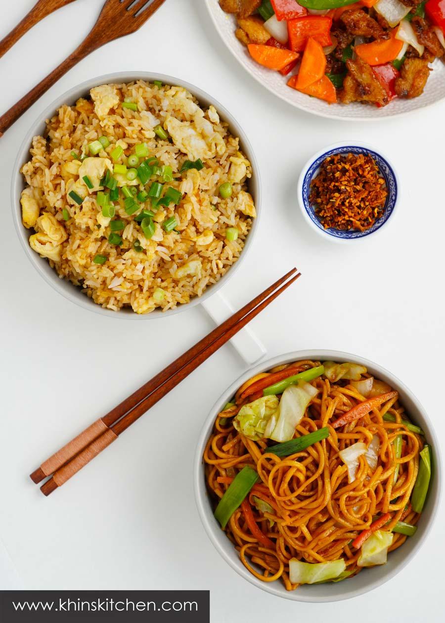 Fried rice & stir fry noodle