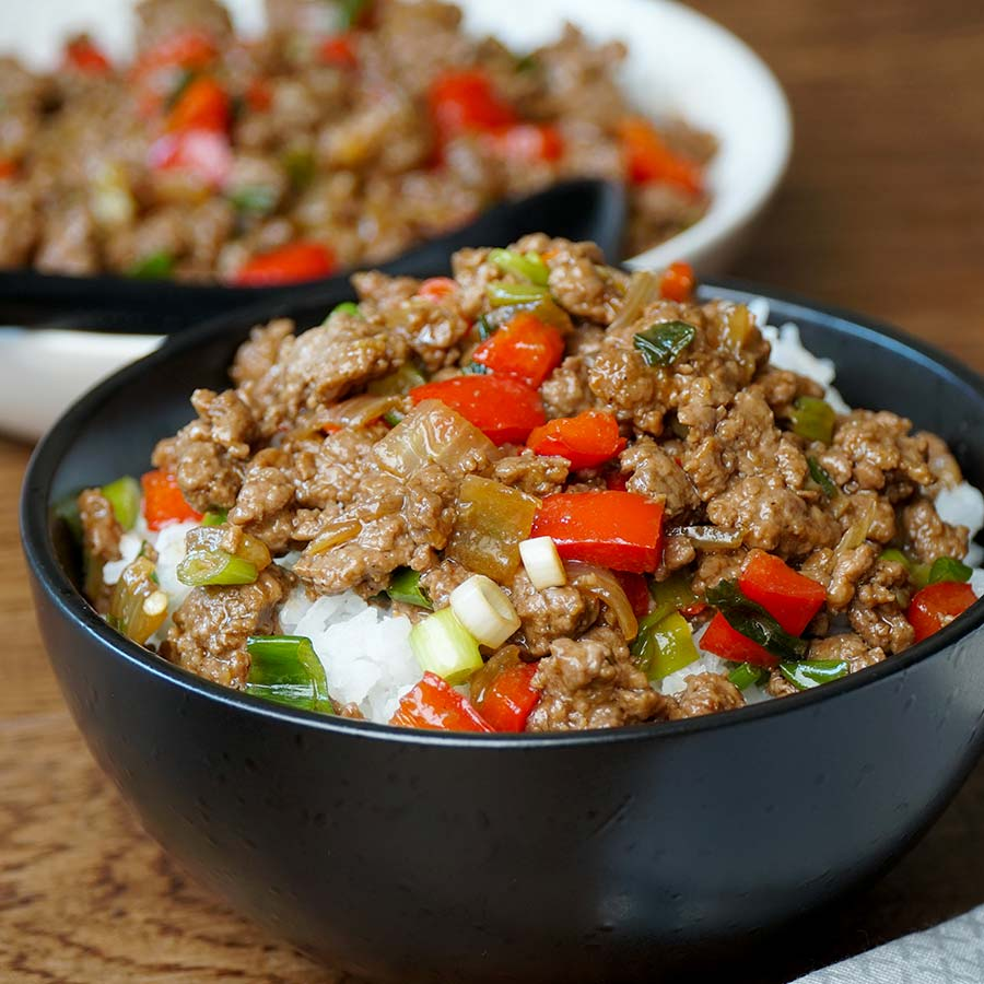 Chilli Pepper Beef ( Ground Beef Stir Fry )
