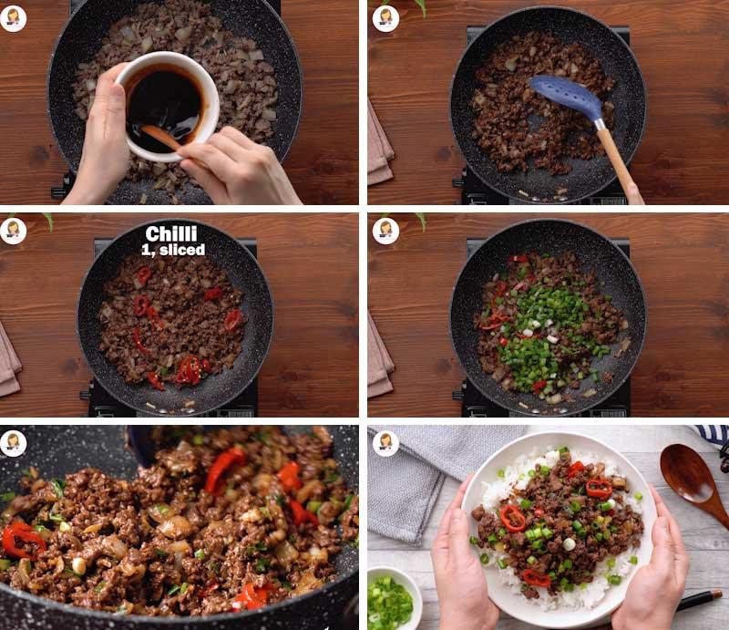 Easy Mongolian beef with ground beef