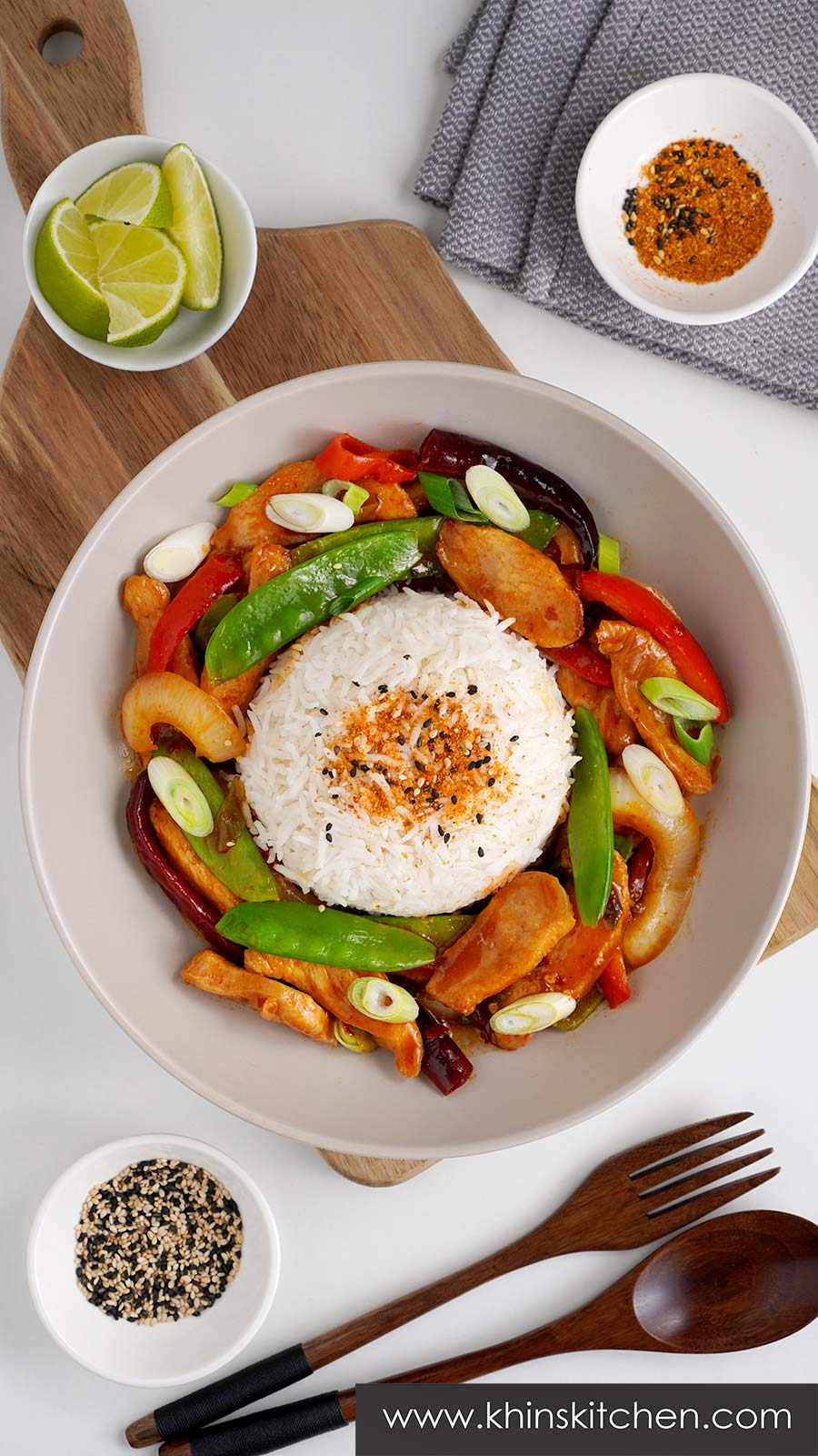 Wagamama inspired chicken stir fry