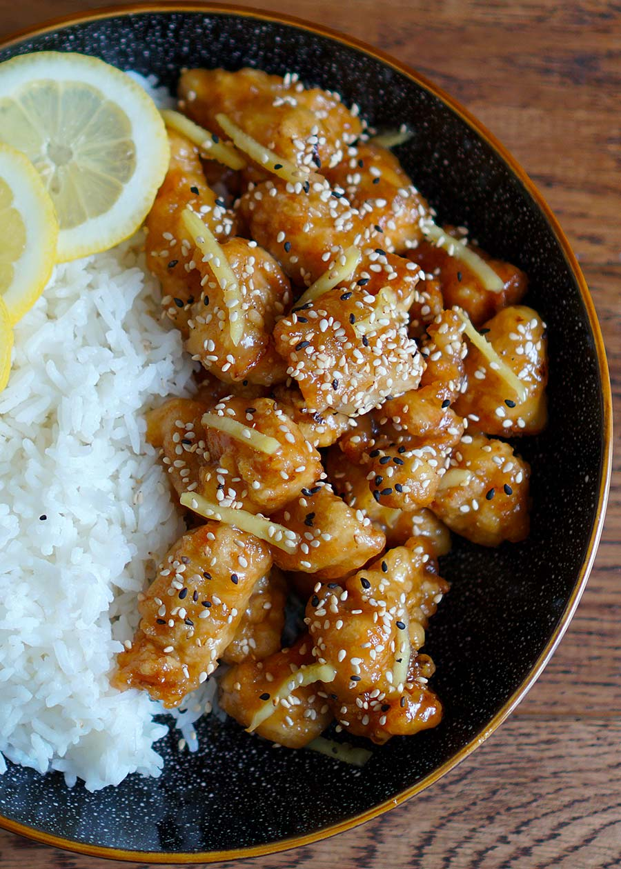 honey lemon fried chicken